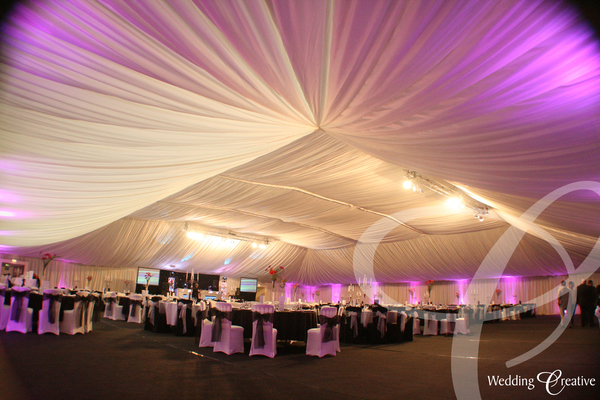 Sports Hall Wedding Reception
