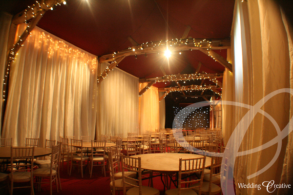 Combe Manor Wedding Drapes