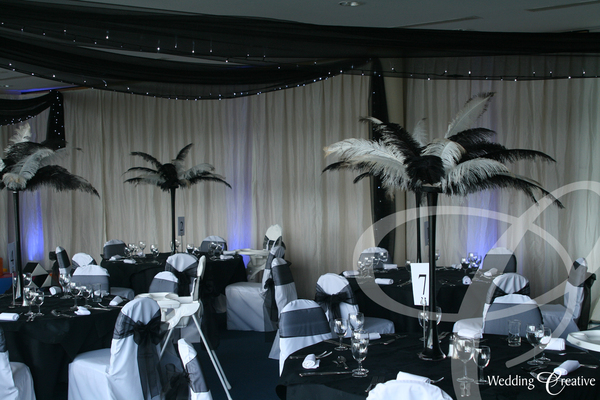 Wedding Feather Display