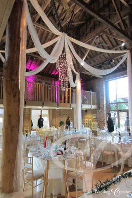 Gaynes Park Wedding Drapes