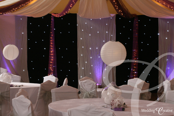 Star Cloth Wedding Drapes