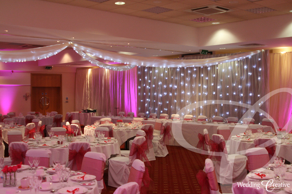 Star Light Wedding Drapes Buckinghamshire