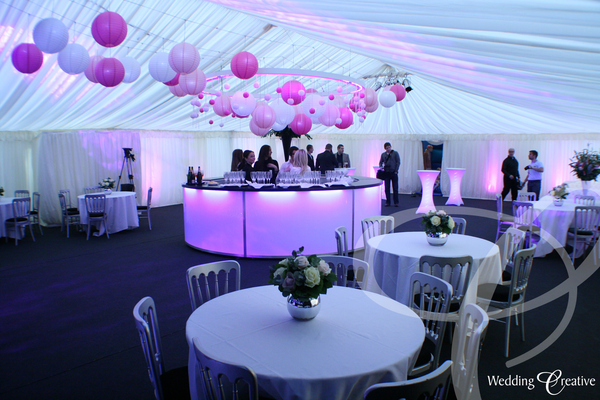 Venue Dressing At Party Marquee Wedding Creative