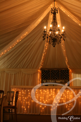 Fairy Light Wedding Drapes