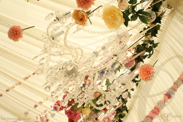 Chandelier Flower Wedding
