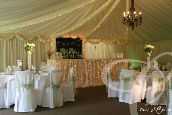 Fairy Light Wedding Bar
