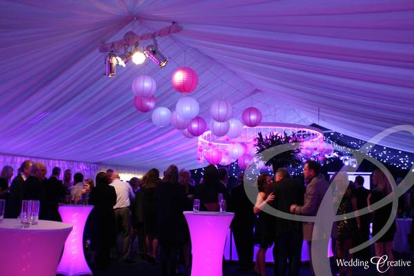 Venue Dressing at Party Marquee Wedding Creative : pinklighting PartyMarquee hireco from www.wedding-creative.co.uk size 600 x 400 jpeg 207kB