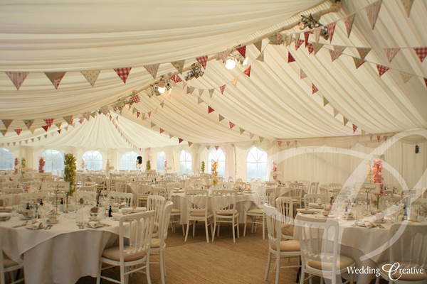 Venue Dressing At Wedding Marquee Creative