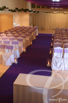 Purple Wedding Aisle Carpet