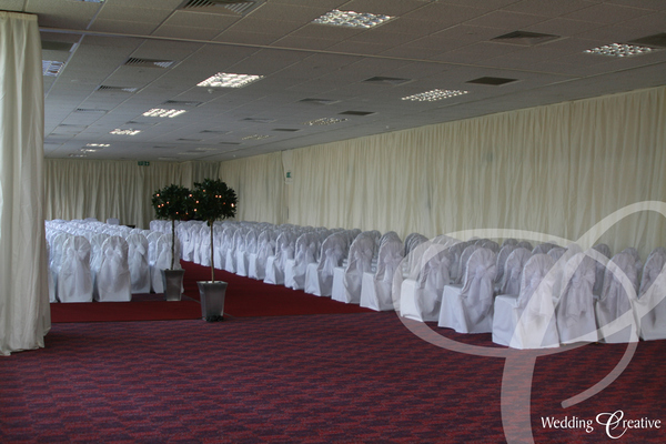 Silk Wall Wedding Drapes