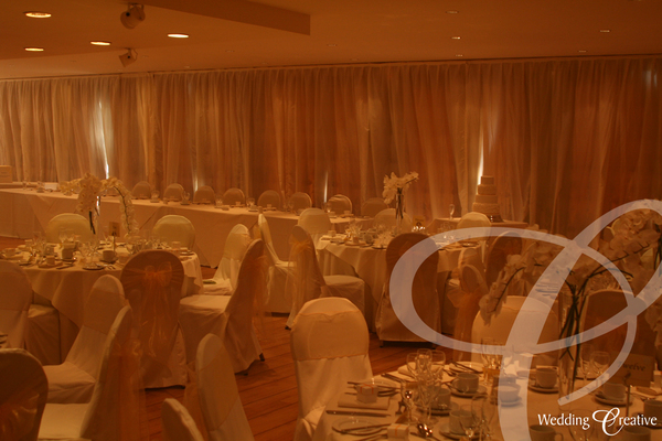 Ivory Curtain Drape Covers