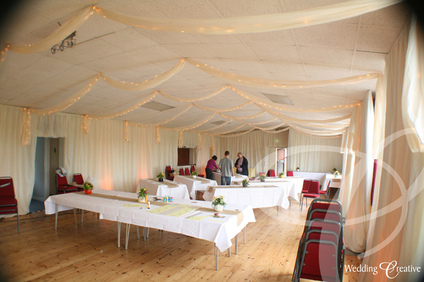 Venue Dressing At Little Clacton Village Hall Wedding