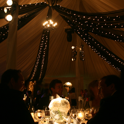 pinspot wedding table lighting