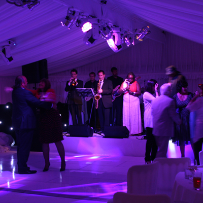 wedding band party lighting