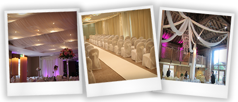 wedding creative drapery